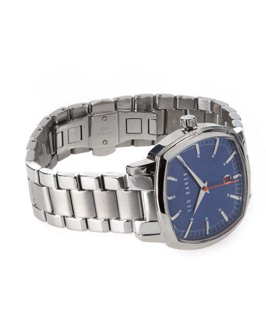Ted Baker   Gray Square Dial Watch for Men   Lyst