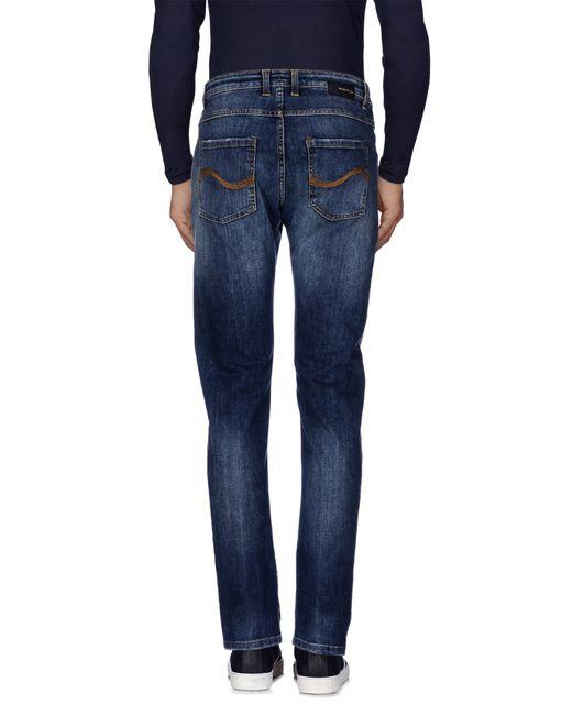 Officina 36 | Blue Denim Trousers for Men | Lyst