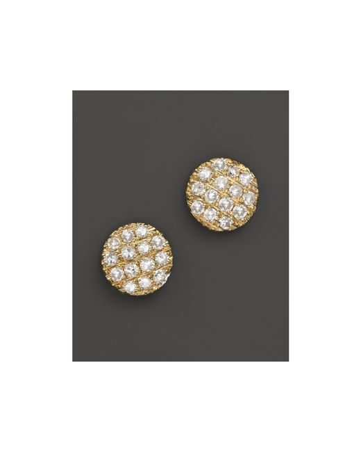 Dana Rebecca | 14k Yellow Gold Diamond Lauren Joy Mini Earrings | Lyst
