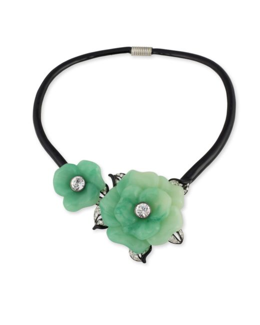 Kenneth Jay Lane | Green Jade Flower Collar Necklace | Lyst