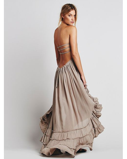 Free People Extratropical Jersey Maxi Dress In Brown Lyst