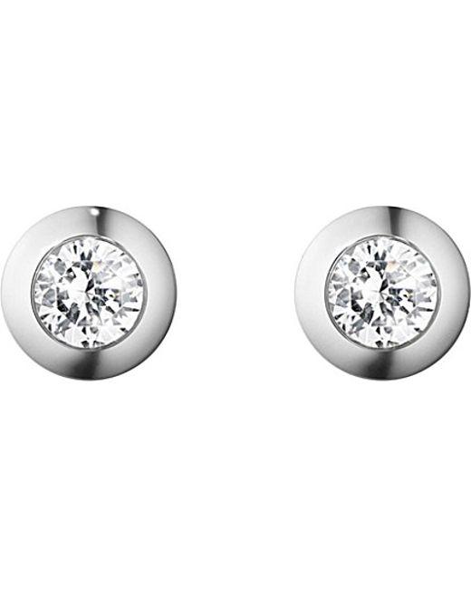 Georg Jensen | Aurora 18ct White-gold And Diamond Earrings | Lyst