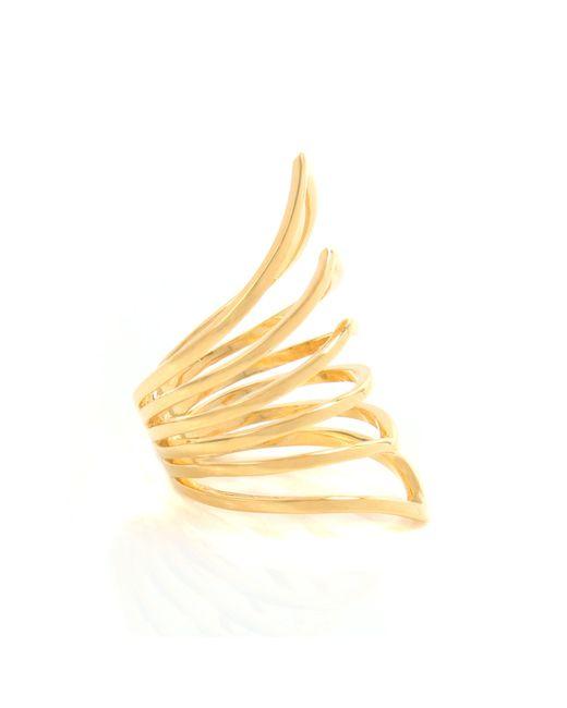 Arme De L'Amour | Metallic Reverse Chevron Ring | Lyst
