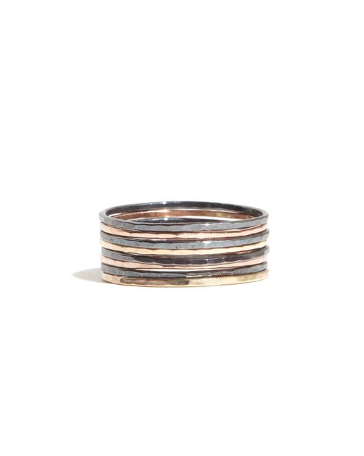 Melissa Joy Manning | Multicolor Set Of 8 Mixed Sterling Silver And Gold Stacking Rings | Lyst