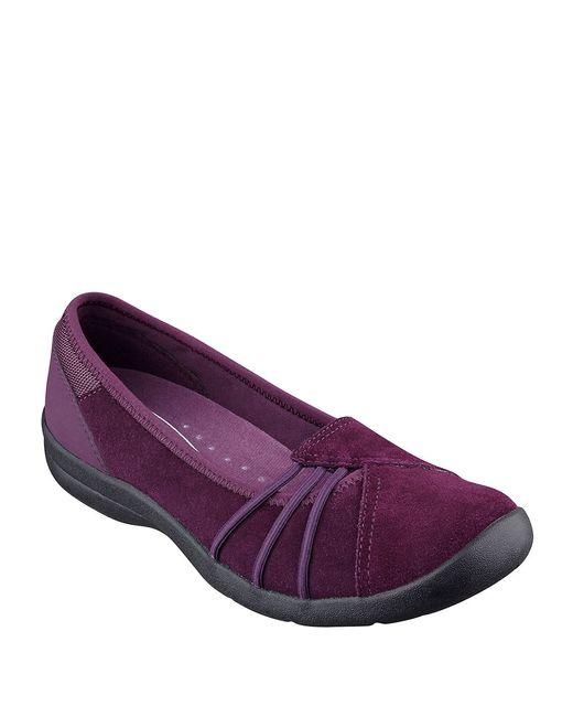 Easy Spirit   Purple Kaali Suede Flats   Lyst