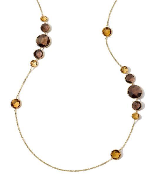 Ippolita | Metallic 18k Gemma Citrine & Quartz Station Necklace | Lyst