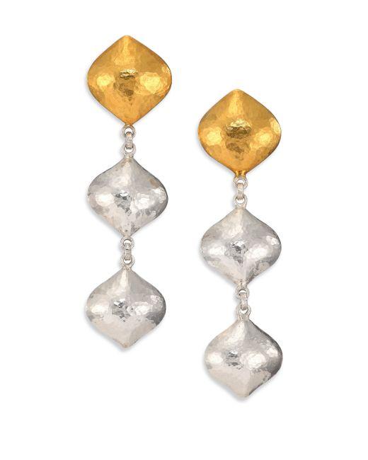 Gurhan | Metallic Clove 24k Yellow Gold & Sterling Silver Cielo Triple-drop Earrings | Lyst