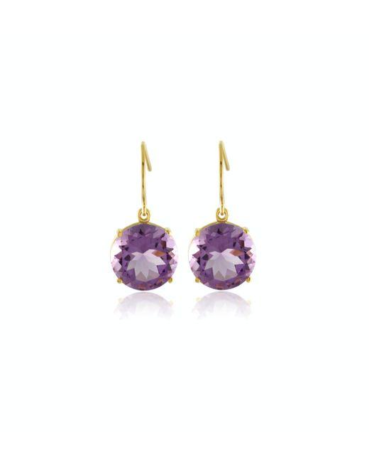 Emily & Ashley | Purple Faceted Amethyst Drop Earrings | Lyst