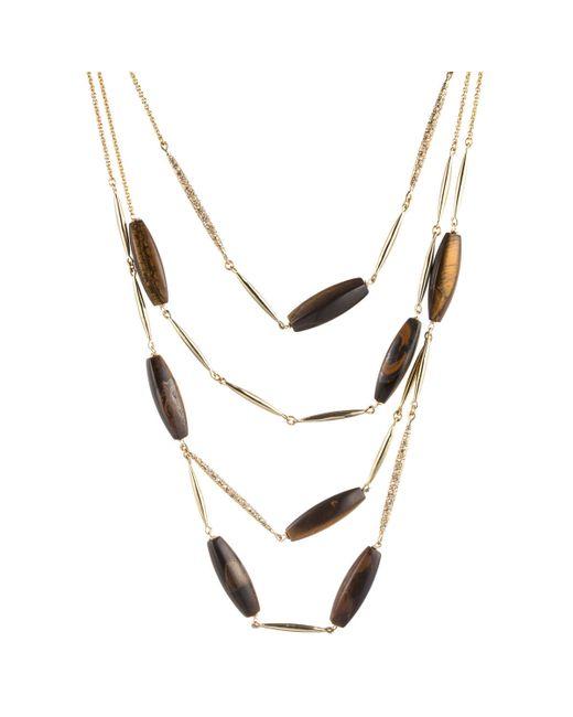 Alexis Bittar | Metallic Multi Strand Tigers Eye Spear Bib Necklace You Might Also Like | Lyst