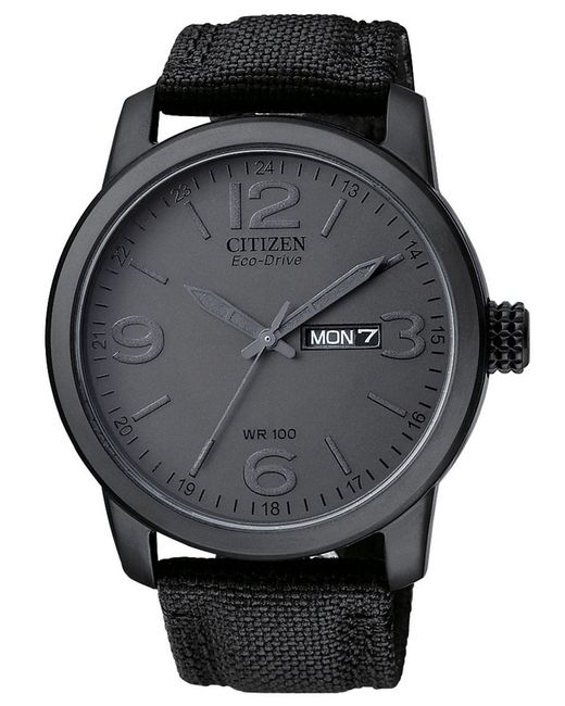 citizen mens black canvas in black for save 20