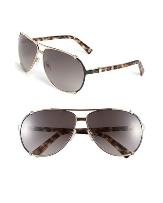 aa4e125eee9e Dior   39 chicago  39  63mm Metal Aviator Sunglasses ...