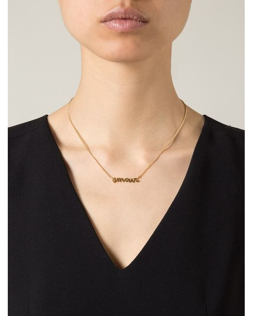 Wouters & Hendrix | Metallic 'amour' Necklace | Lyst