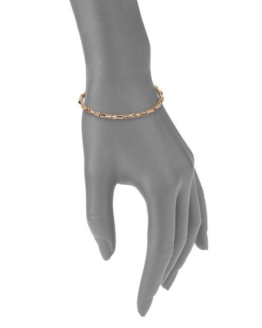 Gucci | Metallic Bamboo 18k Rose Gold Thin Bracelet | Lyst