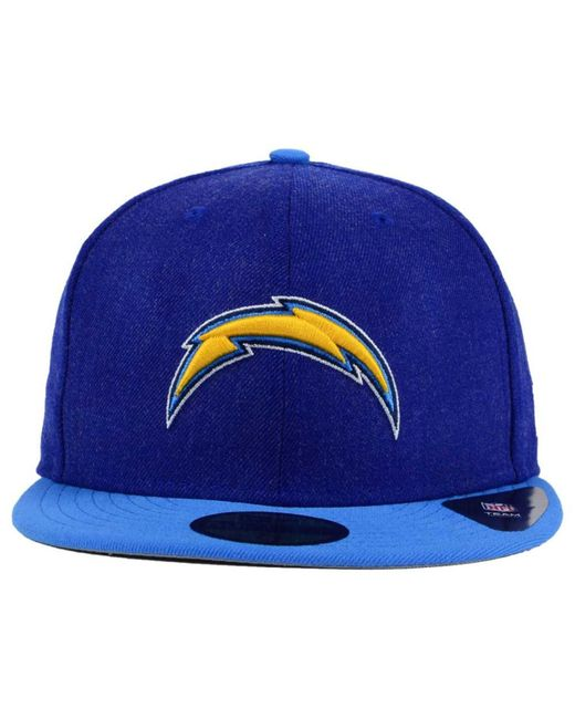 San Diego Chargers Caps: Ktz San Diego Chargers Heather Action 2-tone 59fifty Cap