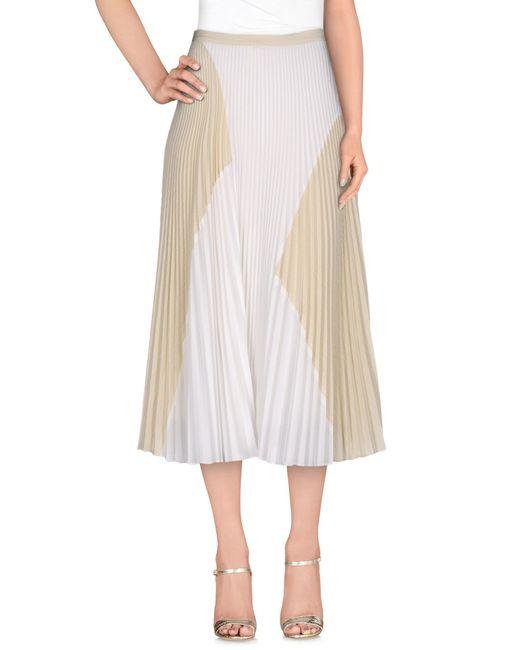 Proenza Schouler | Natural 3/4 Length Skirt | Lyst