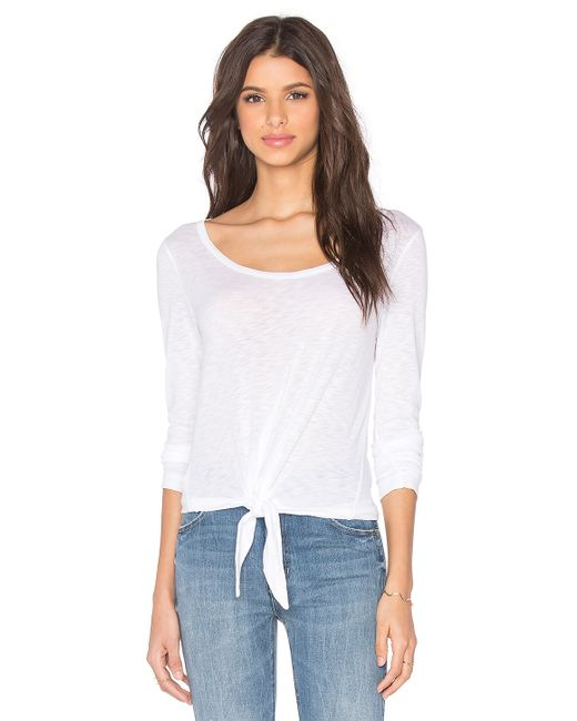 Splendid | White First Layer Long Sleeve Top | Lyst