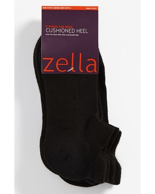 Zella | Black Tab Back Socks | Lyst