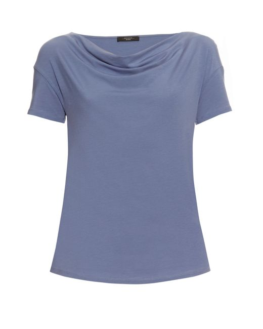 weekend by maxmara multi c t shirt in blue save 60 lyst. Black Bedroom Furniture Sets. Home Design Ideas