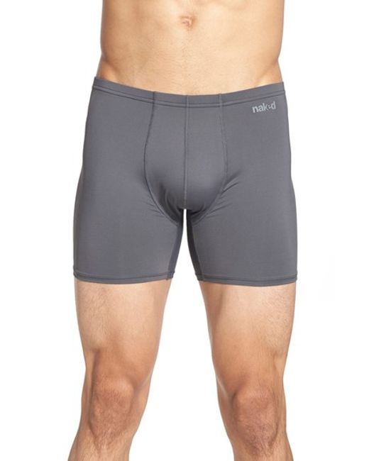 Naked | Gray 'active' Microfiber Boxer Briefs for Men | Lyst