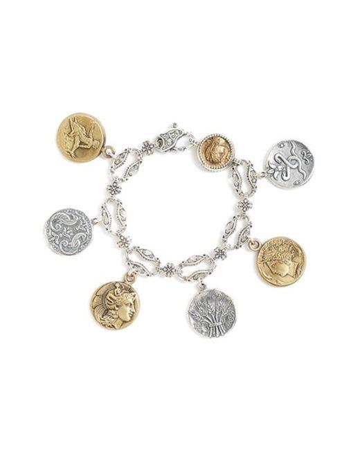 Konstantino | Metallic 'kerma' Coin Charm Bracelet | Lyst