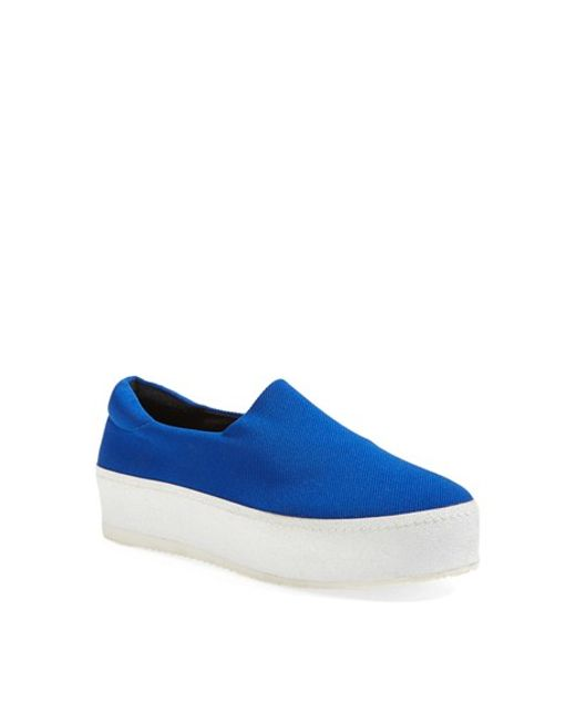 Opening Ceremony | Blue Grunge Slip-On Platform Sneakers | Lyst