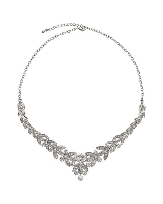 John Lewis | Metallic Diamante Leaf Statement Necklace | Lyst