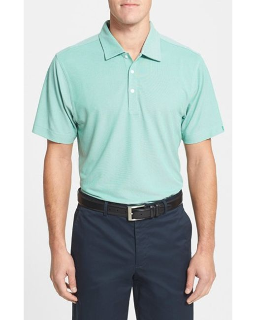 Cutter & Buck | Green Men'S Big & Tall 'Blaine' Oxford Polo for Men | Lyst