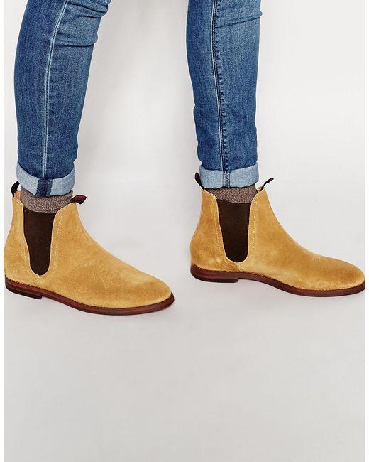 h by hudson tamper suede chelsea boots in brown for men. Black Bedroom Furniture Sets. Home Design Ideas