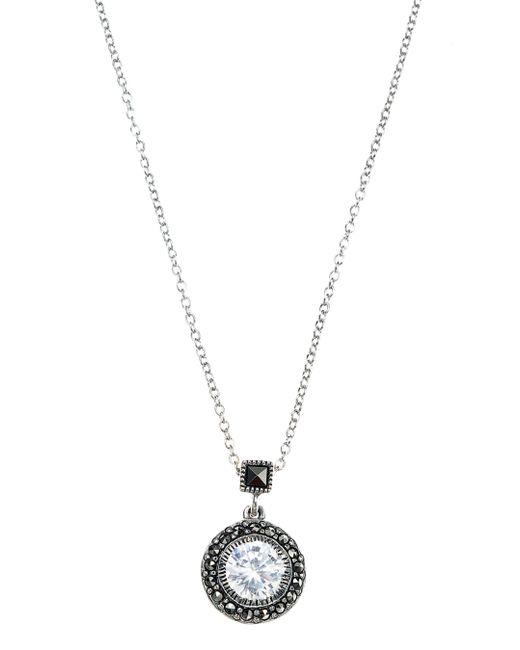 Judith Jack | Metallic Marcasite Pendant Necklace | Lyst