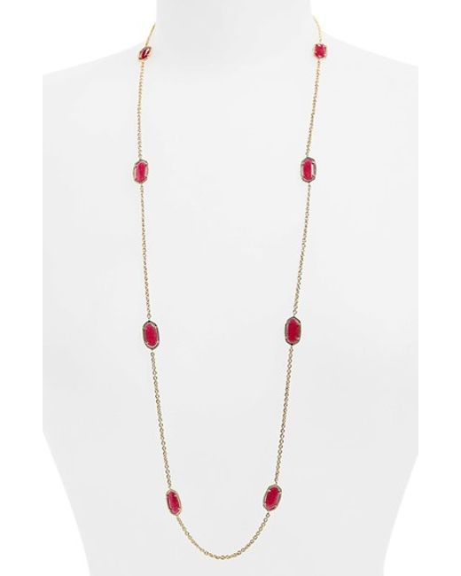 Kendra Scott | Pink 'kelsie' Station Necklace | Lyst