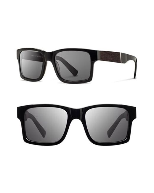 Shwood | Black 'haystack' 52mm Wood Sunglasses for Men | Lyst