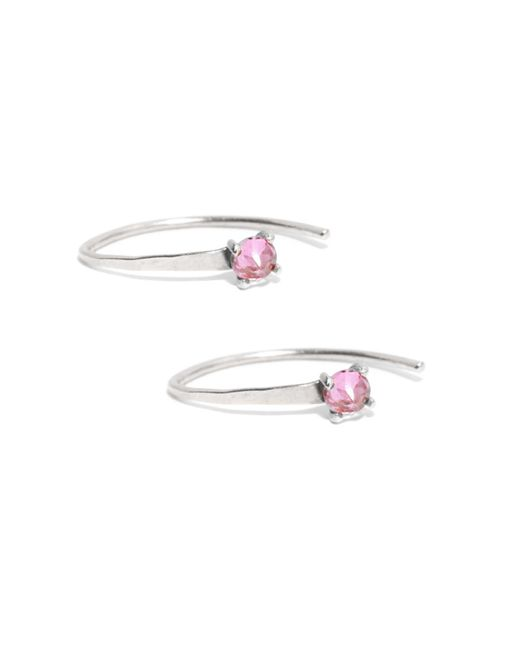 Melissa Joy Manning | Pink Mini Wishbone Earrings With Amethyst | Lyst