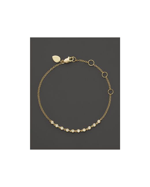 Meira T | Metallic 14k Yellow Gold Diamond Bezel Bracelet | Lyst