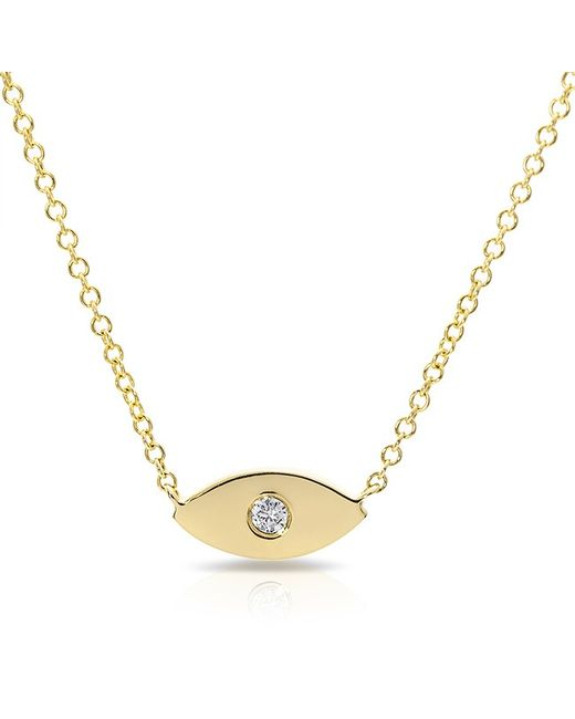 Anne Sisteron | Metallic 14kt Yellow Gold Diamond Evil Eye Necklace | Lyst