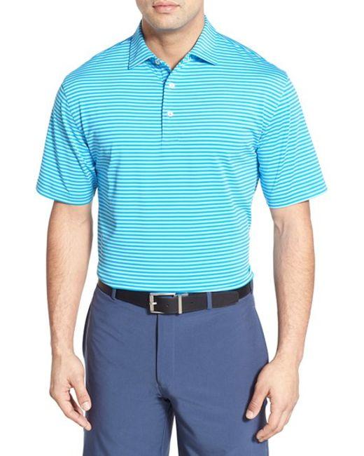 Peter Millar Stripe Moisture Wicking Stretch Jersey Golf
