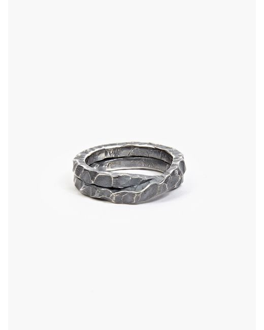 Denis Music | Metallic Oxidised Silver Moebius Cross Ring for Men | Lyst