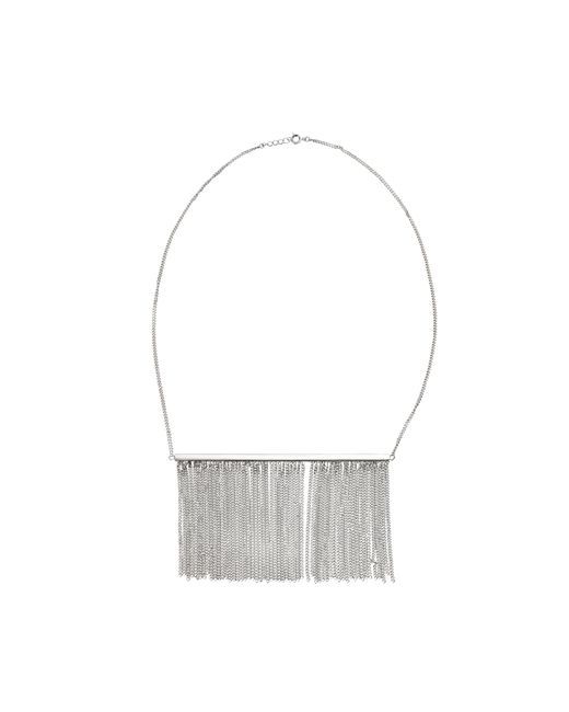 MM6 by Maison Martin Margiela   Metallic Fringe Necklace   Lyst