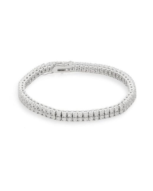 Saks Fifth Avenue | Metallic White Stone Two-row Bracelet/silvertone | Lyst