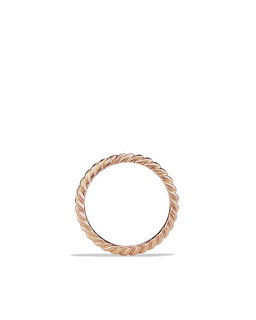 David Yurman   Pink Cable Wedding Band In 18k Rose Gold   Lyst