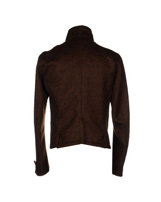 Ann Demeulemeester Brown Jacket for men