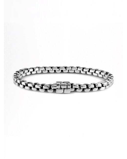 John Hardy | Metallic Square Link Bracelet for Men | Lyst