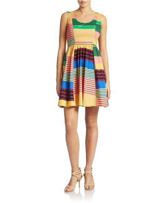 Plenty by Tracy Reese | Multicolor Sleeveless Fit And Flare Print Dress | Lyst