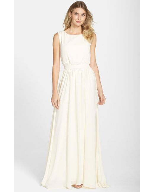 Paper Crown | Natural By Lauren Conrad 'tori' Crepe Gown | Lyst