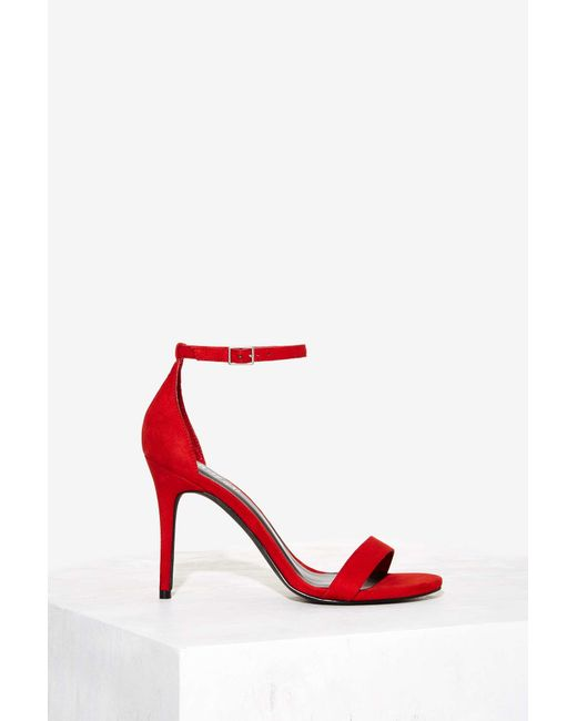 Nasty Gal Guest List Party Heel Red In Save 39 Lyst