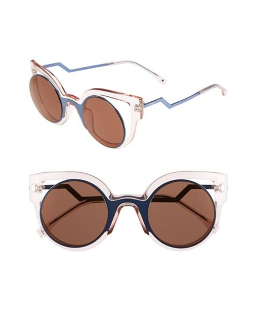 Fendi | Multicolor 'orchidea' 49mm Cat Eye Sunglasses | Lyst