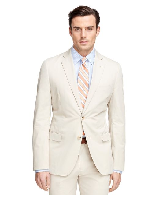 Brooks Brothers | Natural Fitzgerald Fit Twill Suit for Men | Lyst