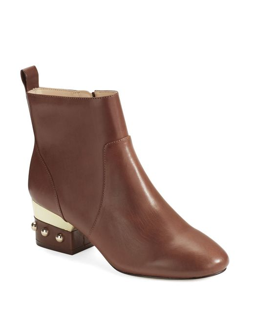 isa tapia hardy studded ankle boots in brown cognac lyst