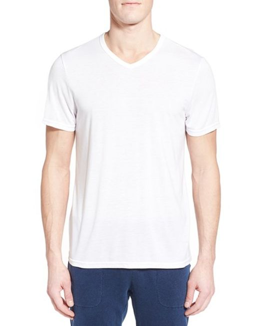 Michael stars v neck t shirt in gray for men ether lyst for Michael stars tee shirts