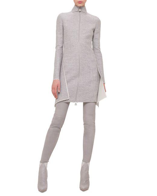 Akris | White Long-sleeve Double-face Apron Dress | Lyst