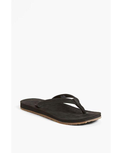 UGG | Black Ugg 'kayla' Thong Sandal | Lyst